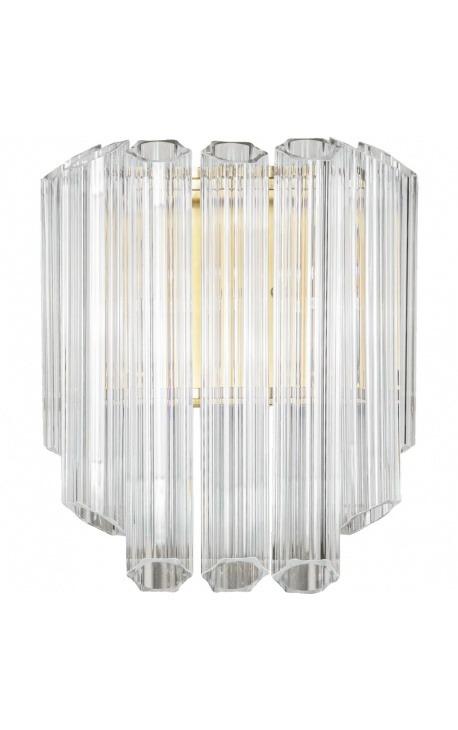 """Настенный светильник """"Lesavi"""" из стекла и металла цвета латуни в стиле ар-деко"""