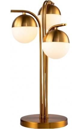 """Lampe à poser """"Marcy"""" en métal couleur laiton inspiration Art-Déco"""