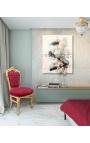 Chaise de style Baroque Rococo velours rouge Bordeaux et bois doré