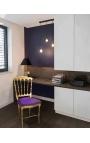 Ткань стиль Napoléon III фиолетовый стулья и золочеными Вуд