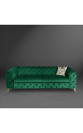 """3-х местный диван """"Rhea"""" дизайн Art Deco в изумрудно-зеленом бархате"""