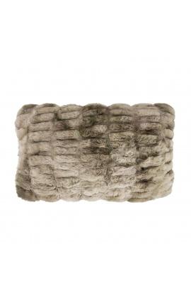 Gray faux fur cushion 30 x 50