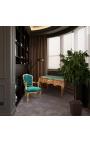 Людовик XV стиль 3 ящика с инкрустацией под руку зеленый офис