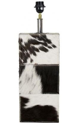 Прямоугольный цоколь из воловьей кожи черно-белого цвета