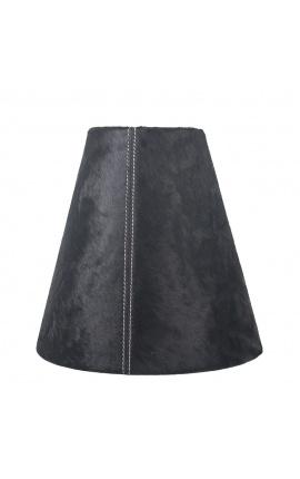 Black cowhide lampshade 26 cm in diameter