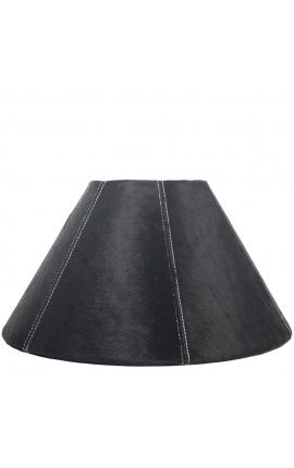 Black cowhide lampshade 39 cm in diameter