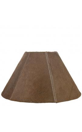 Brown cowhide lampshade 39 cm in diameter