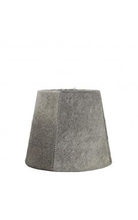 Gray cowhide lampshade 18 cm in diameter