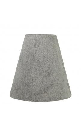 Gray cowhide lampshade 26 cm in diameter