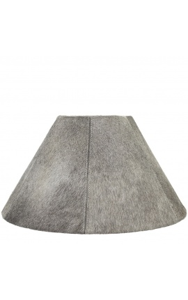 Gray cowhide lampshade 39 cm in diameter