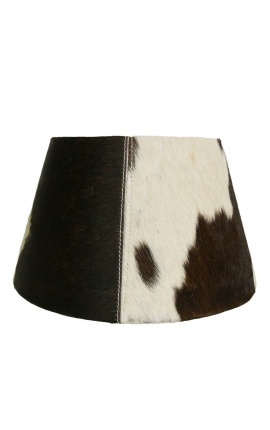 Black and white cowhide lampshade 30 cm in diameter