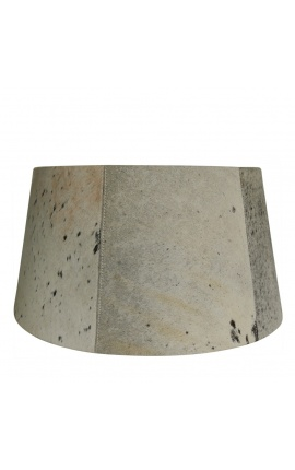 Black and white cowhide lampshade 50 cm in diameter