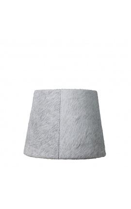 Gray cowhide lampshade 20 cm in diameter