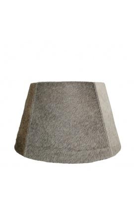 Gray cowhide lampshade 30 cm in diameter