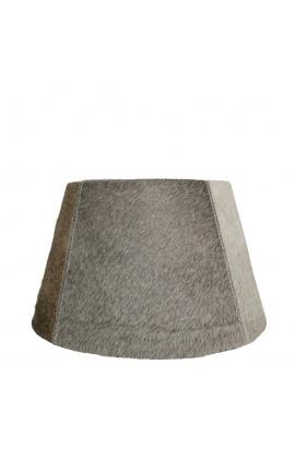 Gray cowhide lampshade 40 cm in diameter