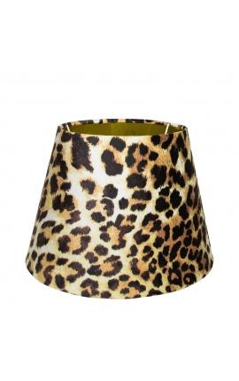 Leopard velvet shade and gold interior 30 cm in diameter
