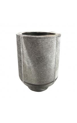 Jardinière cylindrique en peau de vache gris 46 cm