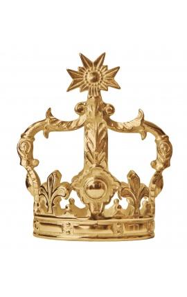 Decorative aluminium gold-colored crown (medium size)
