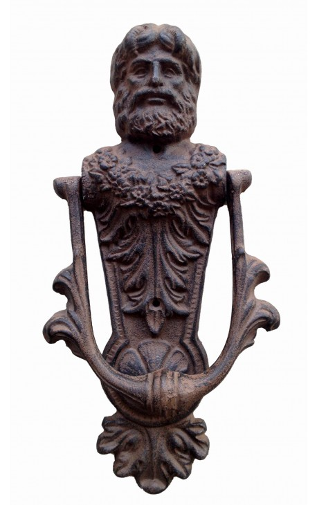 "Cast iron door knocker ""Caryatid man"""