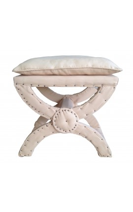 X-Bench beige linen fabric with cushion
