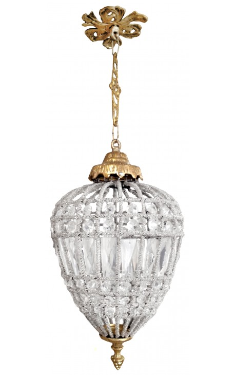 Oval chandelier glass with bronzes