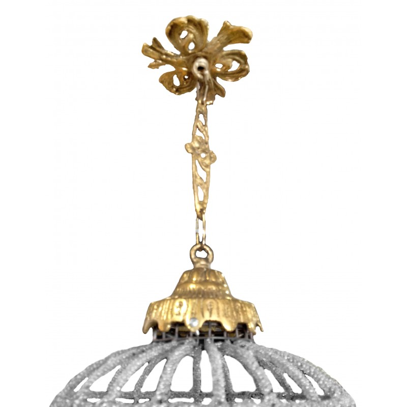 Oblong Chandelier: Oval Chandelier Glass With Bronzes Sm