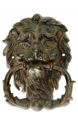 """Heurtoir de porte en fonte """"Lion Antique"""""""