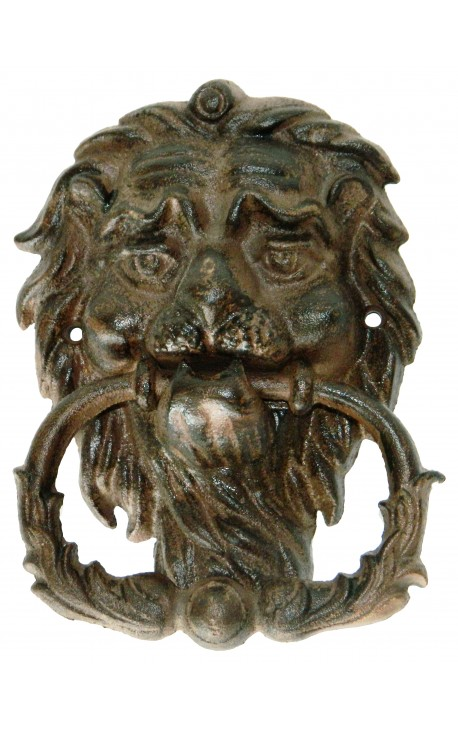 "Heurtoir de porte en fonte ""Lion Antique"""