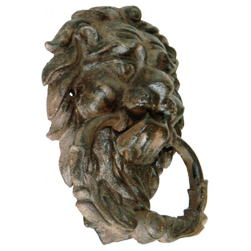 Heurtoir de porte en fonte lion antique - Heurtoir de porte tete de lion ...
