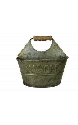 Support pour savon et éponge de style Vintage décors zinc
