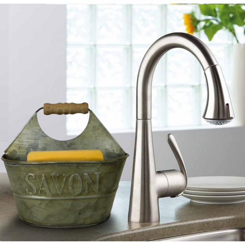 Support for soap and sponge vintage style decorations zinc for Decoration zinc