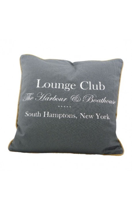 "Coussin ""Lounge Club"" Gris 40 x 40"