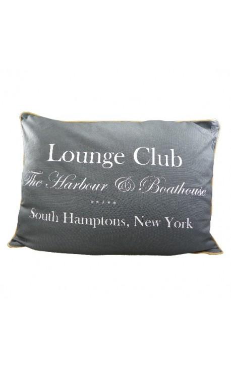 """Cushion """"Lounge Club"""" Grey 27"""" x 20"""""""