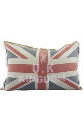 """Coussin style Vintage """"Union Jack"""" 60 x 40"""