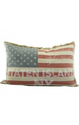 "Coussin style Vintage ""American Flag"" 60 x 40"