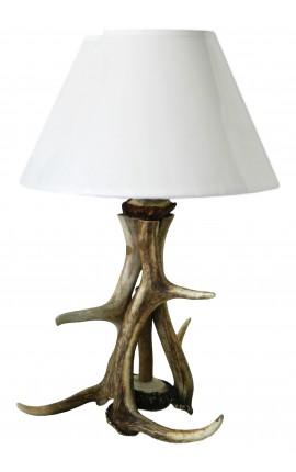 Lampe en vraies cornes de cerf