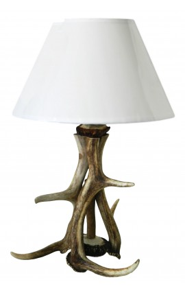 Lampe en vrais cornes de cerfs