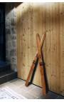Paire de skis décoratifs de style ancien
