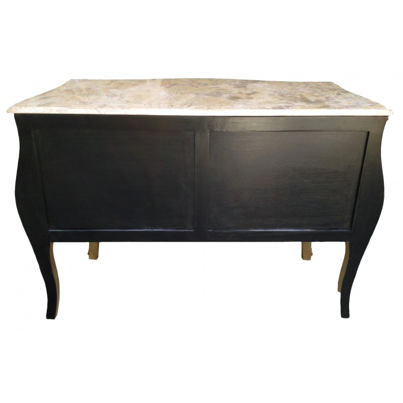 baroque commode louis xv style gold leaf and beige marble top. Black Bedroom Furniture Sets. Home Design Ideas