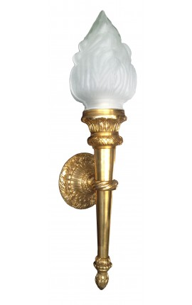 Grande applique murale flambeau en bronze de style Empire