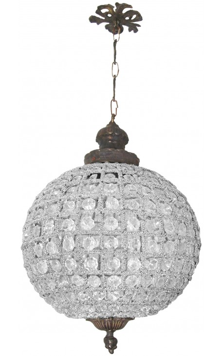 Chandelier ball chandelier with clear glass bronze