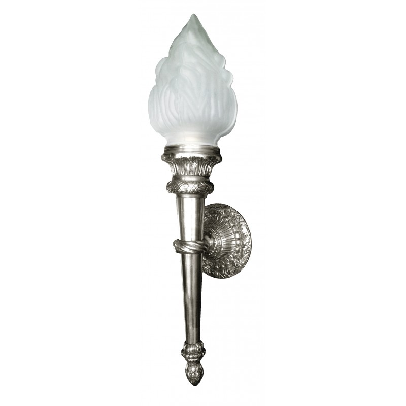 Large Torch Wall Lights : Large sconce torch silvered bronze Empire style