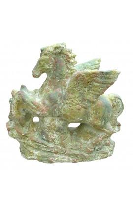 Cheval ailé (Pégase) décoratif en terre cuite