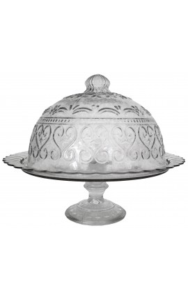 Bell cake or cheese tray with glass up