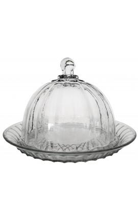 Белл торт или Сырная тарелка с выдувного стекла