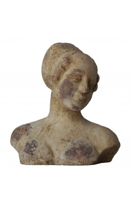 Terracotta female bust