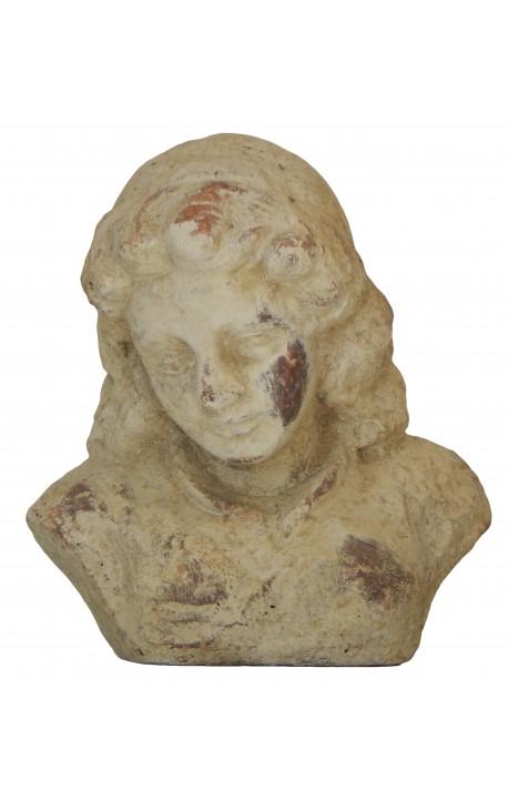 Terracotta female bust