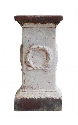 Piédestal en terre cuite pour vase, pot ou statue