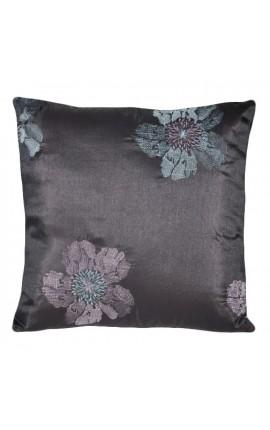 """Подушка """"Вышитые цветы"""" Фиолетовый 40 х 40"""