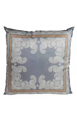 "Cushion ""Decor Foliage"" Gray 40 x 40"